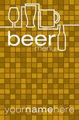 Beer menu in vector format