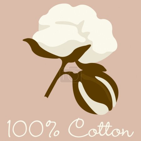 Illustration for Cotton sign in vector format. - Royalty Free Image