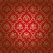 Damask seamless floral pattern Flowers on a red background EPS 10