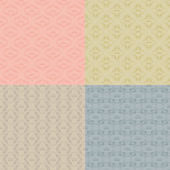 Set of 4 seamless damask pattern Each seamless pattern is grouped on a separate layer