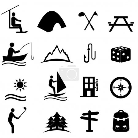 Illustration for Leisure, sports and recreation icon set - Royalty Free Image