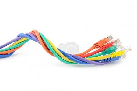 Multi colored computer cables