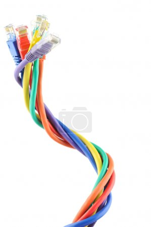 Multi colored computer cables