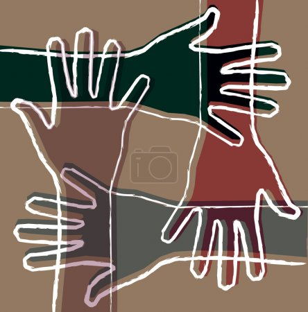 Illustration for Hand teamwork - Royalty Free Image