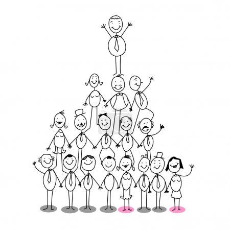 Illustration pour Organigramme de réussite - image libre de droit