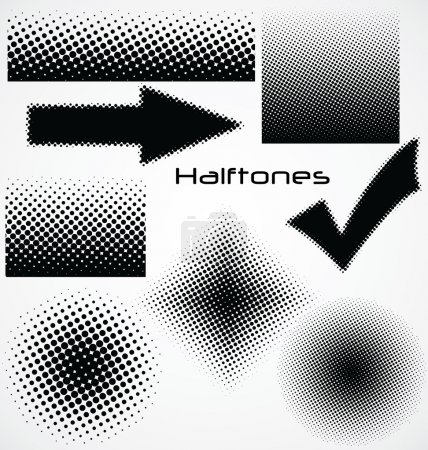 Photo for Halftone dot - set for your design - Royalty Free Image