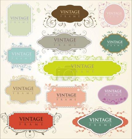 Illustration for Vintage floral frames - Royalty Free Image