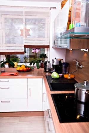 Photo for Indoor shot of a home kitchen - Royalty Free Image