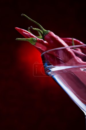 Photo for A still life shoot of red pepper on the table - Royalty Free Image