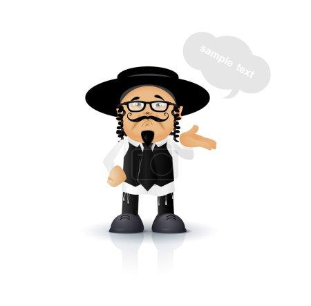 Jewish - Orthodox vector illustration for you desi...