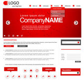 Vector website design layout for corporate and business