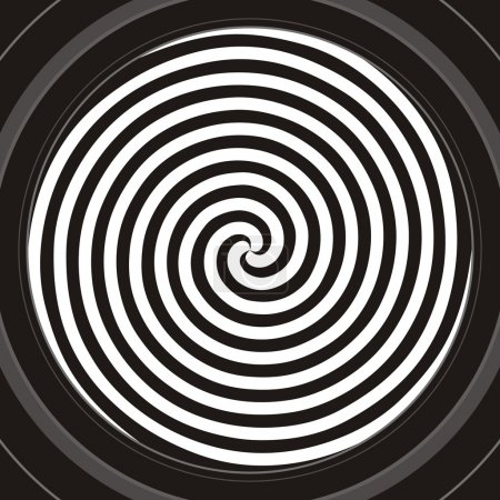Illustration for Black and white hypnotic spiral - Royalty Free Image