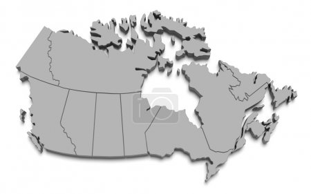 Canada map on white