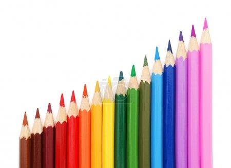 Photo pour Crayons de couleur isolés sur fond blanc - image libre de droit