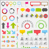 Set of different infographic elements vector eps10 illustration