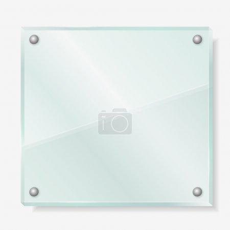 Illustration pour Panneau en verre transparent, illustration vectorielle eps10 - image libre de droit