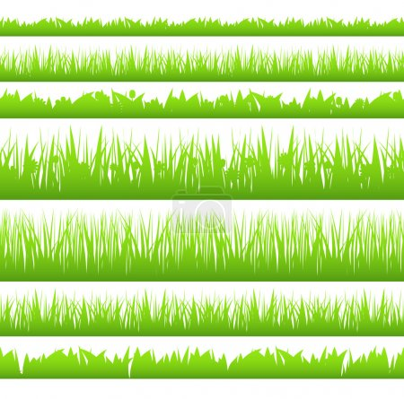 Illustration for Silhoette of seamless grass, vector eps10 illustration - Royalty Free Image
