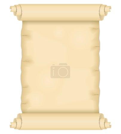 Illustration pour Vieux rouleau de papier, illustration vectorielle eps10 - image libre de droit