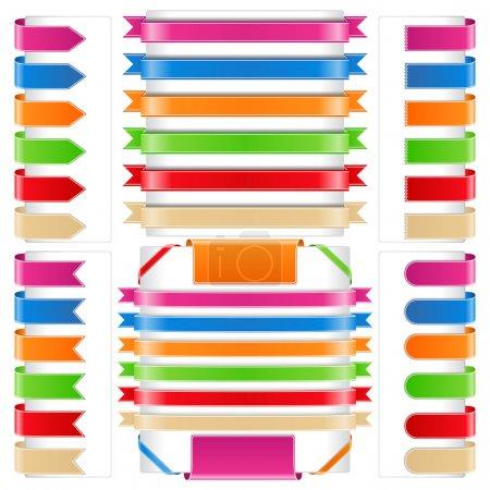 Illustration pour Jeu de rubans différents, illustration vectorielle eps10 - image libre de droit