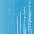 Telecommunications tower, radio or mobile phone ba...