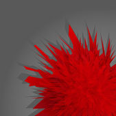 Red abstract flower burst vector background