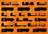 Podrobné dálnici nákladní automobil, přívěs a olej cisterny vektor