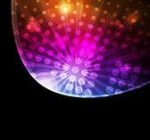 Disco koule vektor neon pozadí