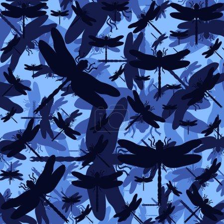 Libelle bunte romantische Illustration Hintergrund