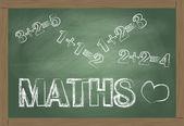 Maths blackboard vector background