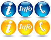 Communication information icons