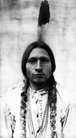 Indian American Native warrior man self portrait