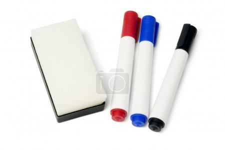 Marker Pens and Eraser