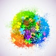 Vector creative abstract background. Eps10. Colorf...