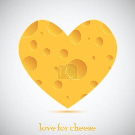 Illustration pour Concept amour pour le fromage. illustration vectorielle - image libre de droit