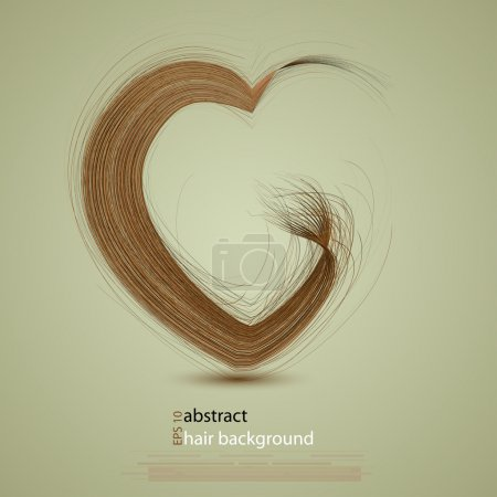 Illustration for Vector hair in the shape of a heart - Royalty Free Image