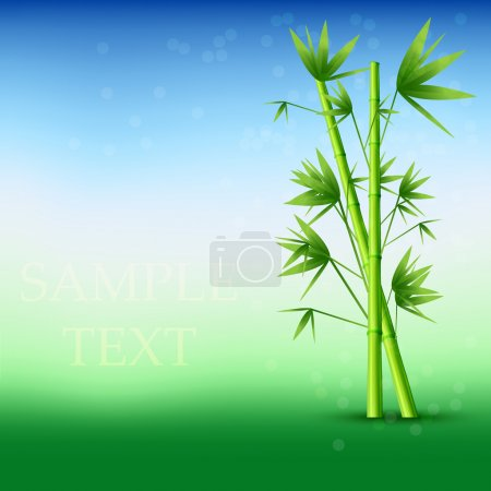 Illustration for Vector abstract bamboo background. Eps10 - Royalty Free Image