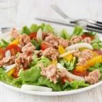 Salad with tuna...