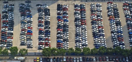 Cars in the parking lot in China