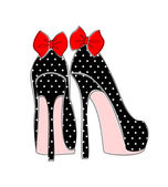 Elegantní pin-up styl boty