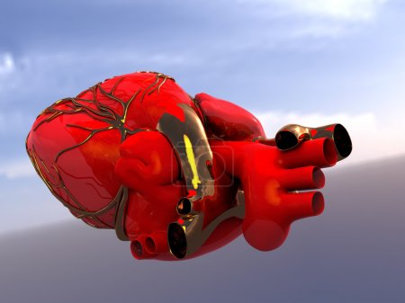 Photo for Model of artificial human heart - Royalty Free Image
