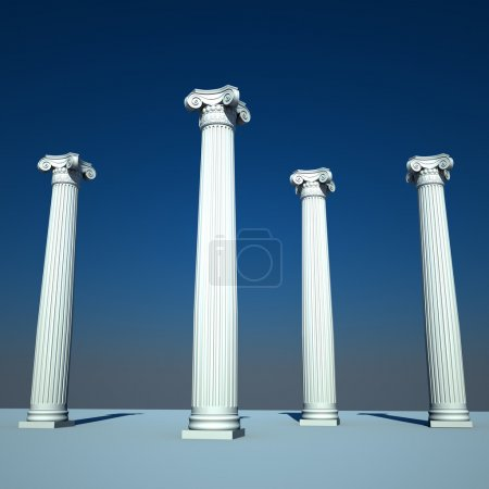 Photo for Classical style columns in ionic order - Royalty Free Image