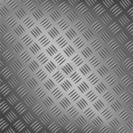 Illustration pour Fond de métal avec vecteur de patten répétitif - image libre de droit