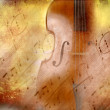 Grunge background music, bass and musical notes...