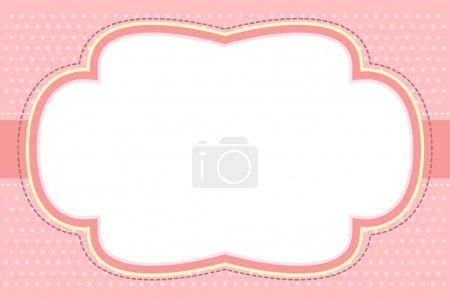 cadre orné de bulle rose