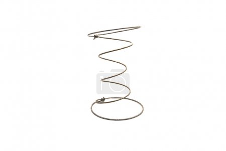 Photo for Furniture, metal spring. Spring on a white background. - Royalty Free Image