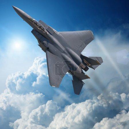 F-15 Eagle in high Attitude