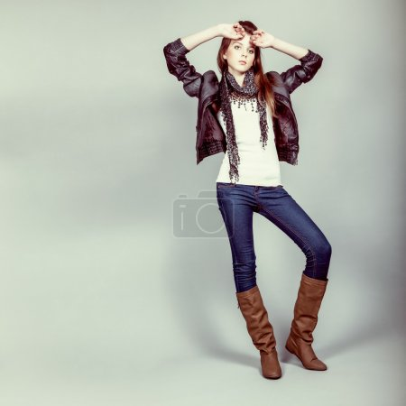 Teen fashion model girl
