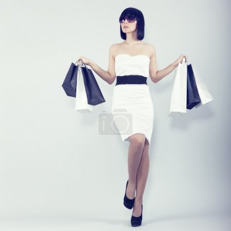 Sexy shopping girl