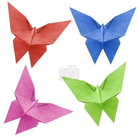 Foto de Mariposa de origami de papel reciclado - Imagen libre de derechos