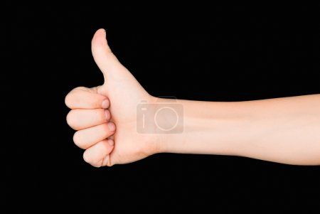 Photo for Ok sign on black background - Royalty Free Image